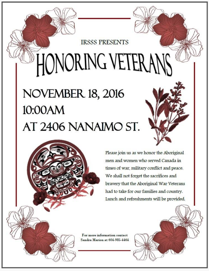 Veterans Lunch Poster